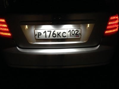 Лампа подсветки номера Daewoo Gentra
