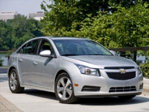 Chevrolet Cruze замена тормозных колодок