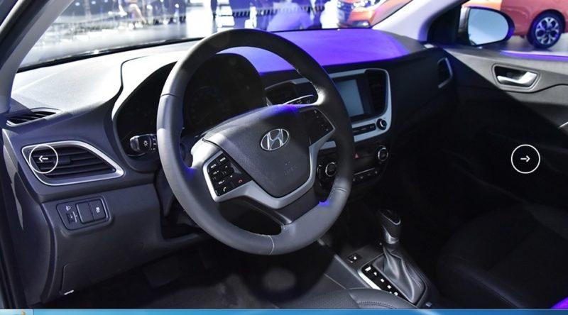 интерьер Hyundai Verna (Solaris) 2