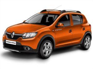 замена ламп в передних блок фарах Renault Sandero