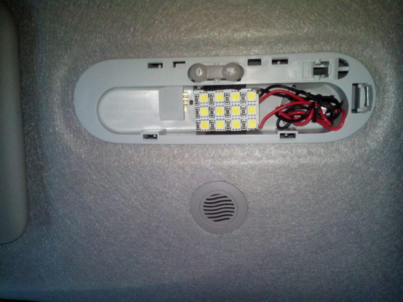 светодиодная подсветка салона Дастер